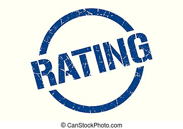 rating stamp - rating blue round stamp
