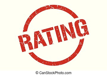rating stamp - rating red round stamp