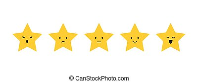 Rating star concept client feedback customer review - Rating...