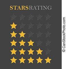 Rating star golden