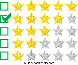 rating stars - detailed illustration of a star rating system...