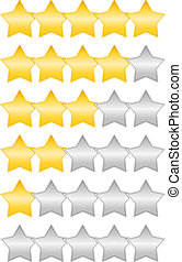 Rating Stars - Golden rating stars set, vector eps10...
