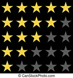 Rating stars panel. Customer review, vote navigation bar. Vector satisfaction level symbol