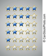 Rating stars - Set of rating stars isolated on grey...