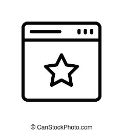 rating thin line icon