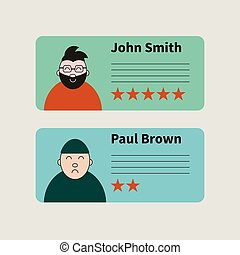 Rating - Opinion, rating, customer feedback. Five stars....