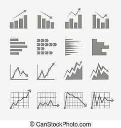 ratings, graphique, business, collection., diagrammes, ...
