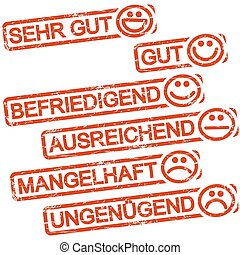 ratings, timbres, smilies, six, rouges