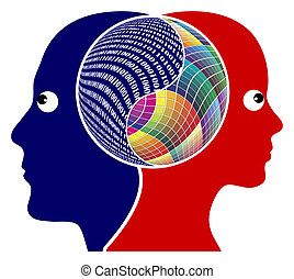 The right brain and the left brain got different function, either logical or creative thinking