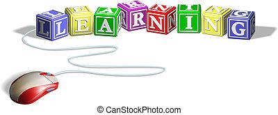 rato, conceito, blocos, aprendizagem