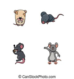 rato, desenho, ilustração