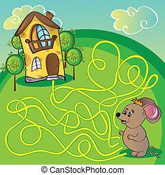rato, labirinto