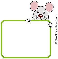 rato, painél publicitário