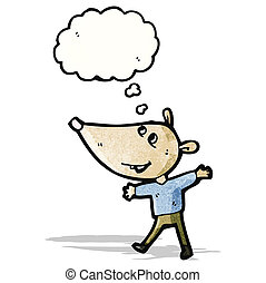 rato, personagem, caricatura