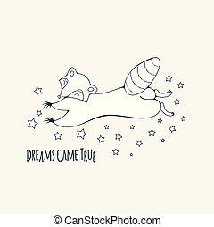 raton laveur, rêveur