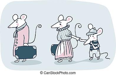 ratones, familia