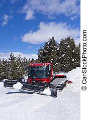 ratrack, ski-route, クローラー, 山