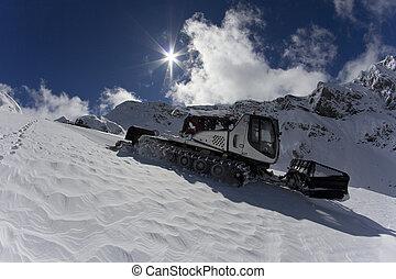 ratrak, governare, macchina, speciale, veicolo neve