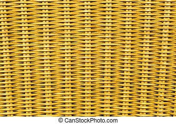 Rattan background, yellow