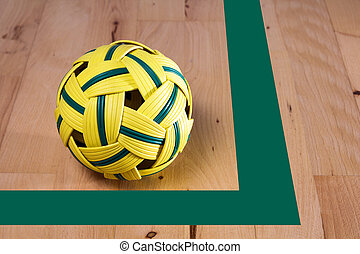 Rattan ball in a gym