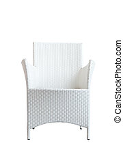 rattan chair with clipping path