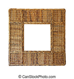 Rattan frame isolated included clipping path