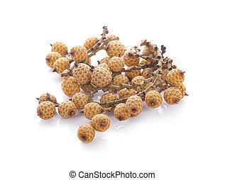 rattan fruit on white background