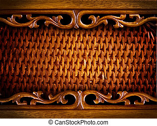 Rattan Furniture Detail. Abstract Background