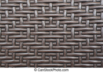 Rattan furniture woven pattern.