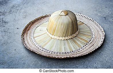 rattan hat for farmer