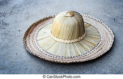 rattan hat for farmer