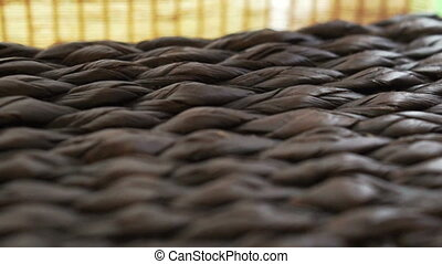 rattan texture bamboo curtain - Close up of rattan texture...