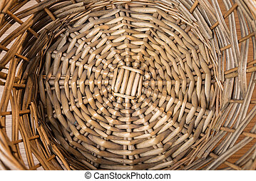 rattan tray background.