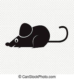 ratte maus oder ikone illustration einfache clipart vektor suche illustration. Black Bedroom Furniture Sets. Home Design Ideas