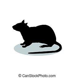 s ugetier ratte silhouette tier maus maskottchen web gebrauch guten aufkleber symbol. Black Bedroom Furniture Sets. Home Design Ideas