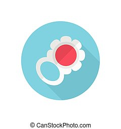 rattle flat color icon