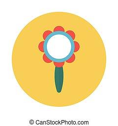 rattle flat icon