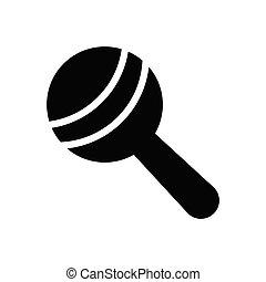 rattle  glyph flat icon