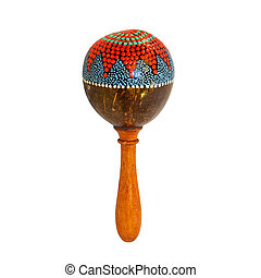 Rattle - Hand made rattle isolated with clipping path
