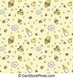 rattles and pacifiers cubes pattern - Seamless pattern with...
