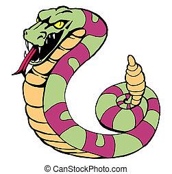 rattlesnake image isolated on a white background.