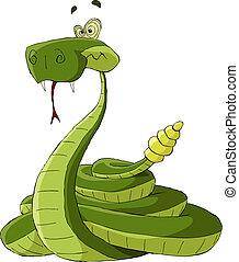 Rattlesnake on a white background, vector illustration