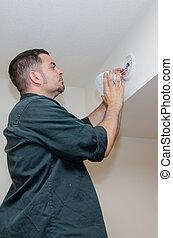 rauchwolken, installieren, alarm