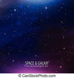 raum, galaxie, hintergrund