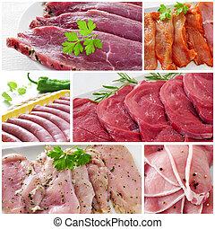 rauw vlees, collage
