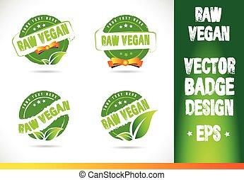 rauwe, badge, vegan, logo