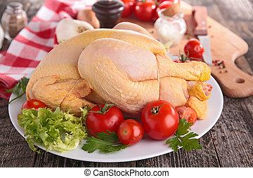 rauwe, chicken