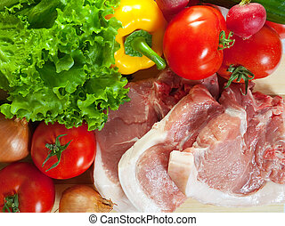 rauwe grostes, vlees