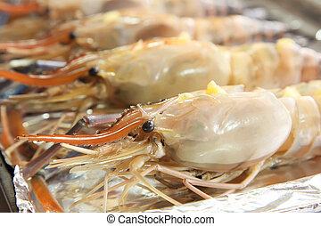 rauwe, langoustine, prawns