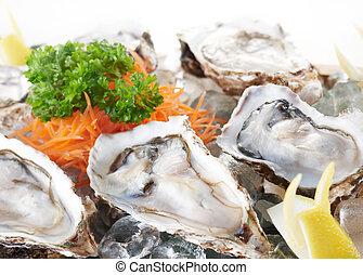 rauwe, oesters
